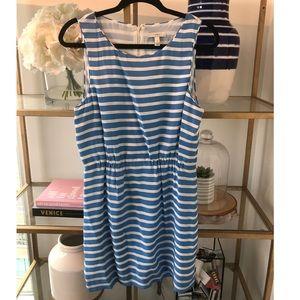 NWT-Cute 100% Silk Carolina Blue & White Dress